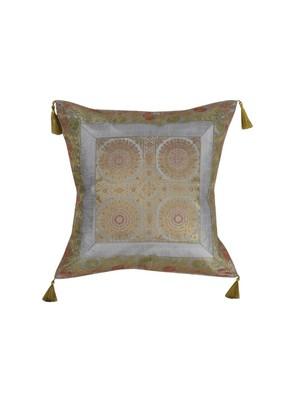 Lal Haveli Designer Silk Single Cushion Cover Home Decor 18 x 18 inch