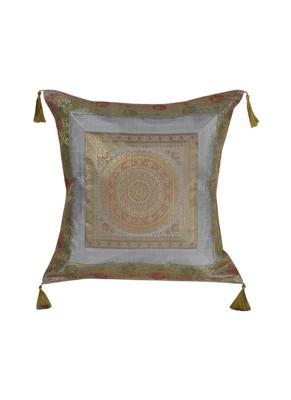 Lal Haveli Rajasthani Handmade Silk Cushion Cover Sofa Decorations 18 x 18 inch