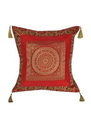 Lal Haveli Handmade Designer Throw Pillow Silk Cushion Covers 18 x 18 inch