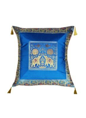 Lal Haveli Sofa Decorations Square Shape Throw Pillowcases Silk Cushion Covers 24 x 24 inch