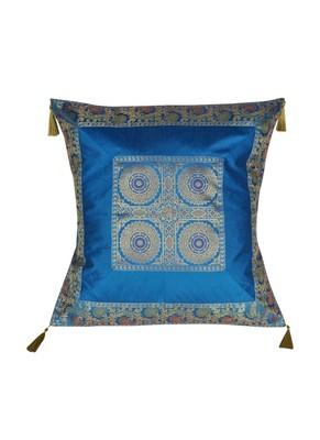 Lal Haveli Rajasthani Handmade Designer Silk Cushion Cover 24 x 24 inch