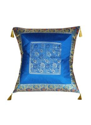 Lal Haveli Sofa Decor Designer Silk Fabric Single Cushion Cover 24 x 24 inch