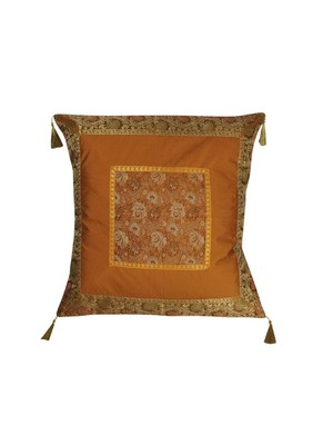 Lal Haveli Living Room Decorations Square Shape Single Silk Cushion Cover 24 x 24 inch