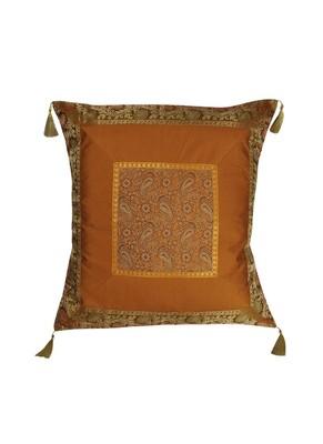Lal Haveli Handmade Throw Pillow Silk Cushion Cover 24 x 24 inch