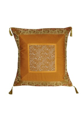 Lal Haveli Designer Silk Cushion Cover Sofa Decor/Home Decor 24 x 24 inch
