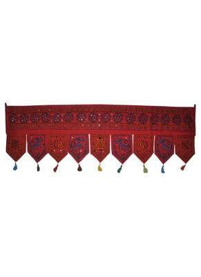 Jaipuri Handmade Elephant Embroidery Work Desgin Traditional Cotton Door Hang...