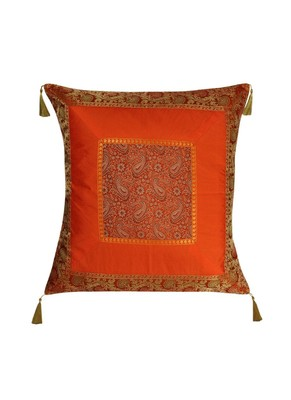 Lal Haveli Home Decor Handmade Designer Silk Cushion Cover 24 x 24 inch