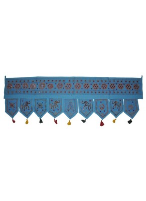 Indian Handmade Elephant Embroidery Work Design Cotton Door Toran Hanging 55 ...
