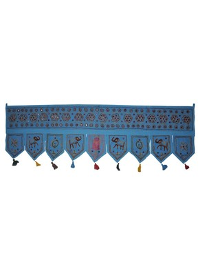 Decorative Entrance Embroidery Work Design Handmade Cotton Door Hanging Tapes...