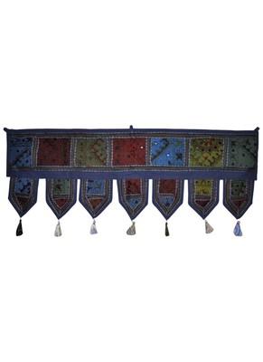 Rajasthani Handmade Patchwork Tapestry Decorative Cotton Door Toran 100 x 43 Cm