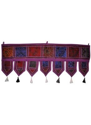 Vintage Handmade Patchwork Decorative Cotton Door Valance Tapestries 100 x 43 Cm