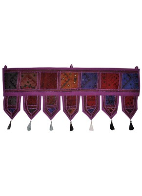 Lalhaveli Traditional Design Embroidered Door Valance Decorative Cotton Door ...