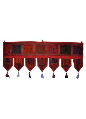 Designer Door Valance Embroidered Patchwork Cotton Toran Door Hanging Tapestr...