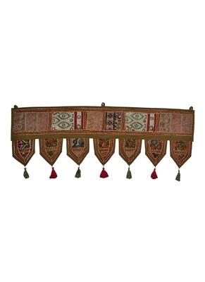 Decorative Entance Handmade Embroidery Work Design Cotton Toran Hanging 39 X ...