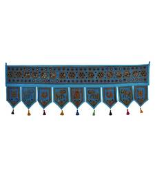 Decorative Hand Embroidery Work Design Cotton Toran Tapestry 56 X 18 Inches