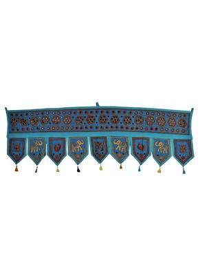 Lalhaveli Decorative Embroidery Work Mirror Work Design Door Valance 56 X 18 ...