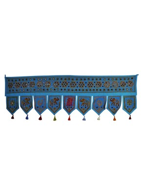 Vintage Home Decorative Embroidery Work Design Cotton Door Topper Tapestry 56...