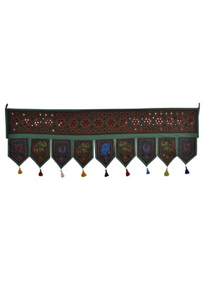 Decorative Embroidery Cotton Door Hanging Topper Tapestry 56 X 18 Inches