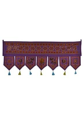 Embroidered Mirror Work Design Home Decor Cotton Door Hanging Toran 42 X 18 I...