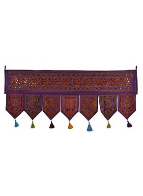 Handmade Mirror Work Embroidery Design Cotton Home Decor Indian Toran 42 X 18...