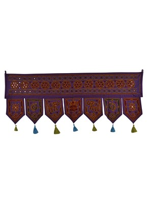 Home Decorative Embroidery Cotton Door Hanging Toran 42 X 18 Inches