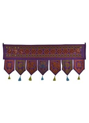 Lalhaveli Handmade Embroidery Work Design Cotton Door Hanging Toran 42 X 18 I...
