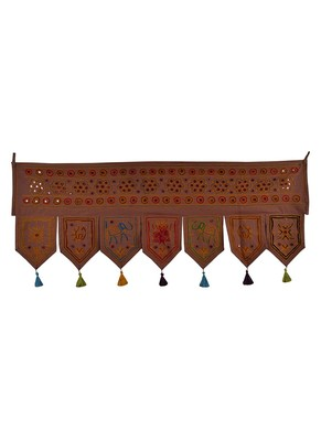 Decorative Embroidery Work Design Cotton Window Treatment Valance 42 X 18 Inches