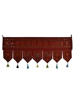 Indian Embroidery Work Design Door Hanging Toran 42 X 18 Inches
