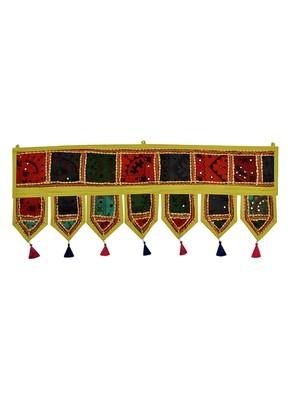 Lal Haveli Embroidered Patchwork Designer Door Toran Hanging 39 X 16 inches
