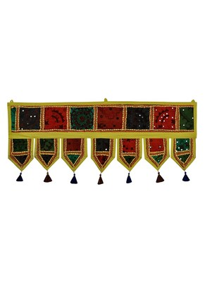Lal Haveli Handmade Embroidery Patchwork Design Home D?cor Door Toran 39 X 16 inches