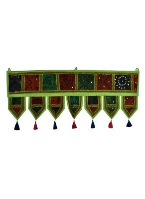Lal Haveli Decorative Embroidery Cotton Door Hanging Toran Tapestry 39 X 16 inches
