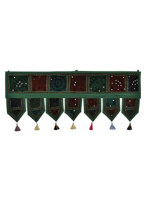 Lal Haveli Handmade Designer Patchwork Cotton Home Decor Embroidery Door Hanging 39 X 16 inches