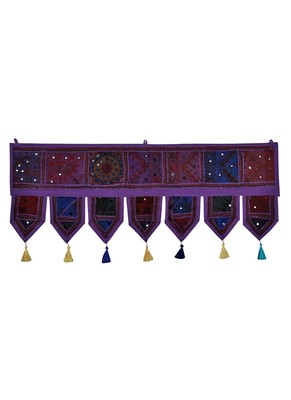 Lal Haveli Decorative Embroidered Patchwork Design Cotton Door Hanging 39 X 16 inches