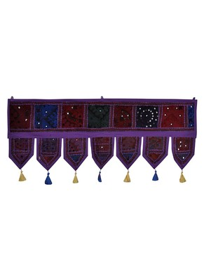Lal Haveli Handmade Embroidery Patchwork Cotton Door Hanging 39 X 16 inches