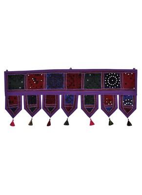 Lal Haveli Jaipuri Home Decorative Design Embroidered Door Valance Toran 39 X 16 inches