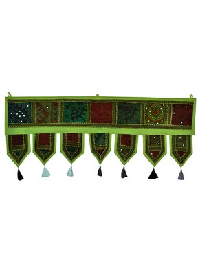 Lal Haveli Handmade Embroidered Cotton Door Hanging 39 X 16 inches