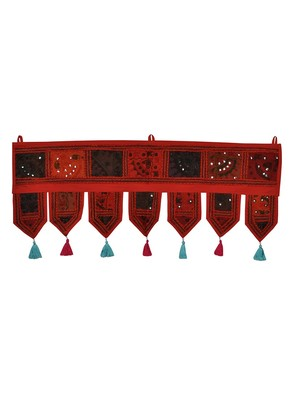 Lal Haveli Vintage Home Decorative Cotton Indian Door Hanging 39 X 16 inches