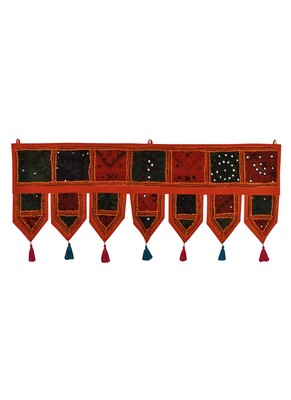Lal Haveli Embroidered Decorative Cotton Door Hanging Tapestries 39 X 16 inches
