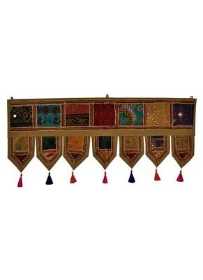 Lal Haveli Mirror Work Embroidery Design Decorative Door Hanging 39 X 16 inches