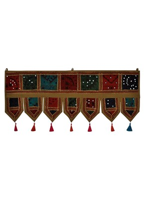 Lal Haveli Embroidery Cotton Door Hangings 39 X 16 inches