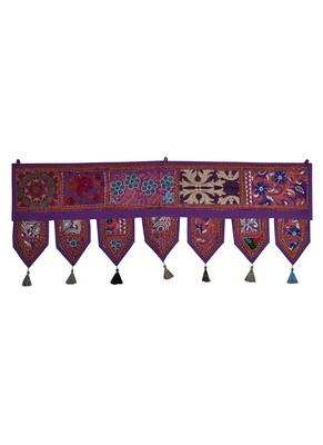 Lal Haveli Handmade Cotton Door Toran Hanging Topper 39 X 16 inches