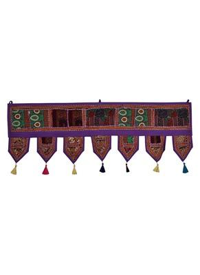 Lal Haveli Elegant Embroidered Design Home Decorative Door Hanging Toran 39 X 16 inches