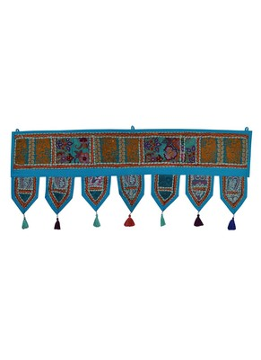 Lal Haveli Rajasthani Handmade Embroidered Decorative Door Toran Tapestries 39 X 16 inches