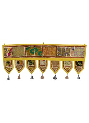 Lal Haveli Jaipuri Handmade Elegant Embroidery Door Hanging 39 X 16 inches