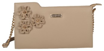 Beige Color non detachable Sling Bag For Women's and Girls