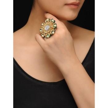 Polki and Pearls Ring