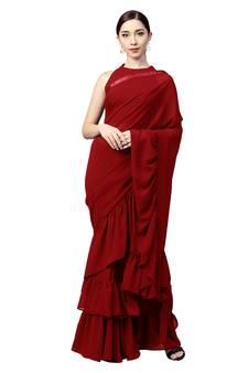3c79c369a7 Red Sarees - Buy Designer Red Color Saree online @ Best Prices