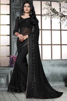 808f099b77016 Black Sarees - Buy Black Color Saree online   Best Prices