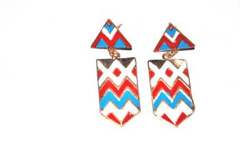 Statement colourful earrings