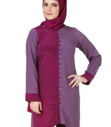 MyBatua Nabeeha Wine & Purple Crepe Tunic